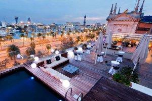 terraza del hotel ohla barcelona